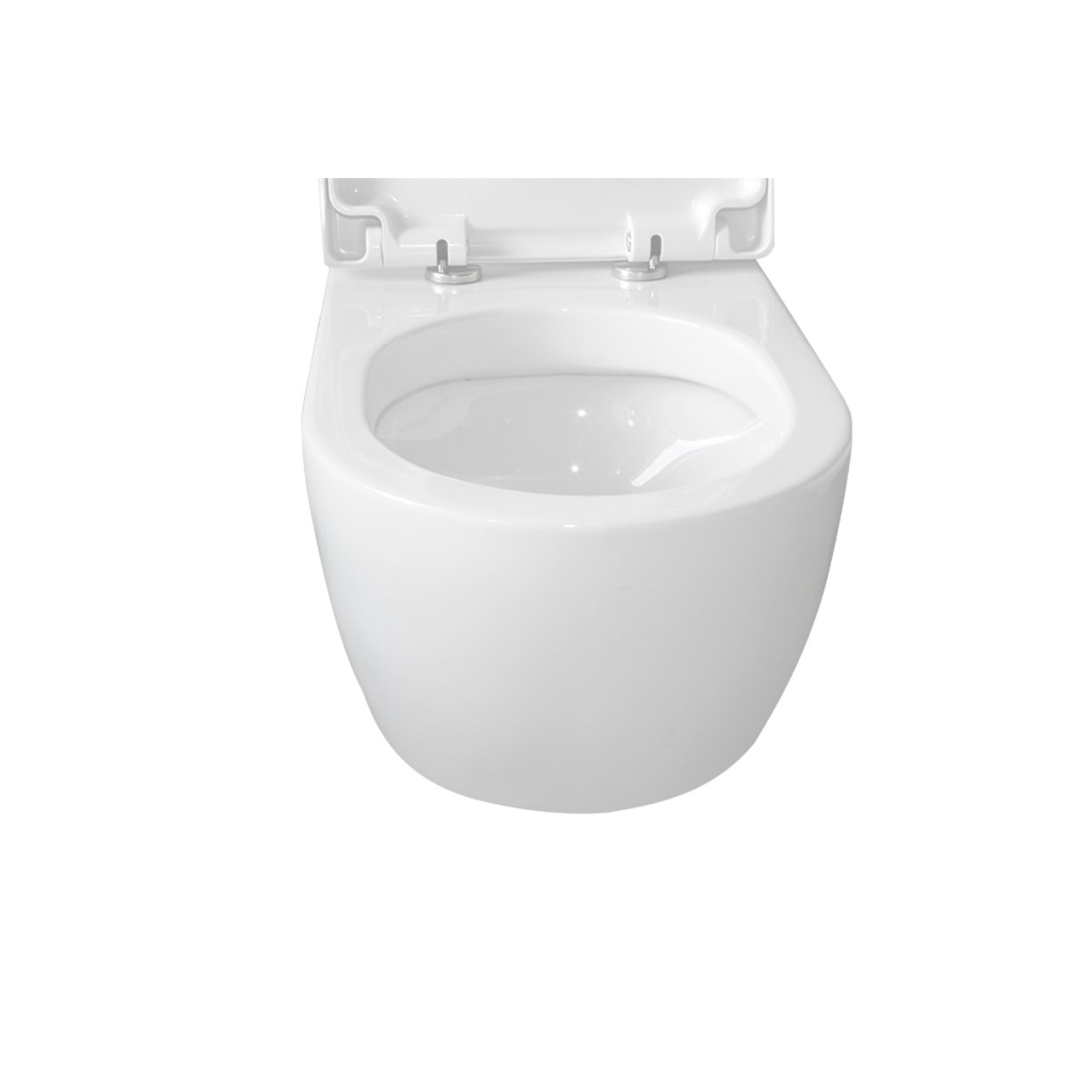 Throne bathrooms salina wc suspendu sans abattant blanc ct2019 - Abattant wc suspendu ...