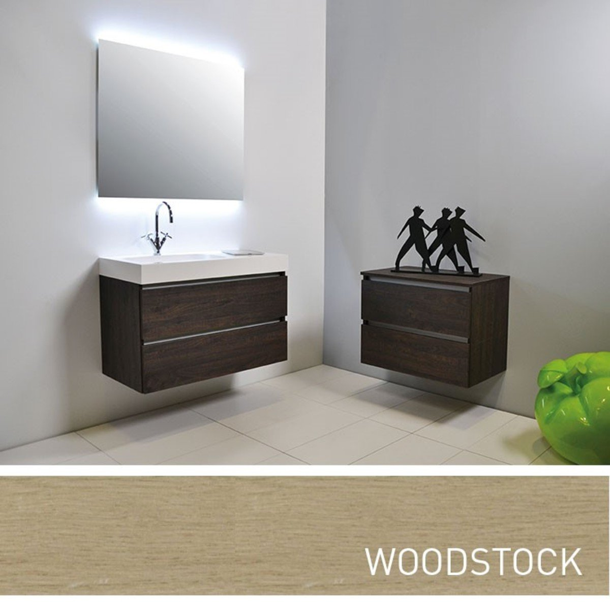 ink tablet set de meubles salle de bain 90cm avec armoire miroir sans poign e woodstock. Black Bedroom Furniture Sets. Home Design Ideas
