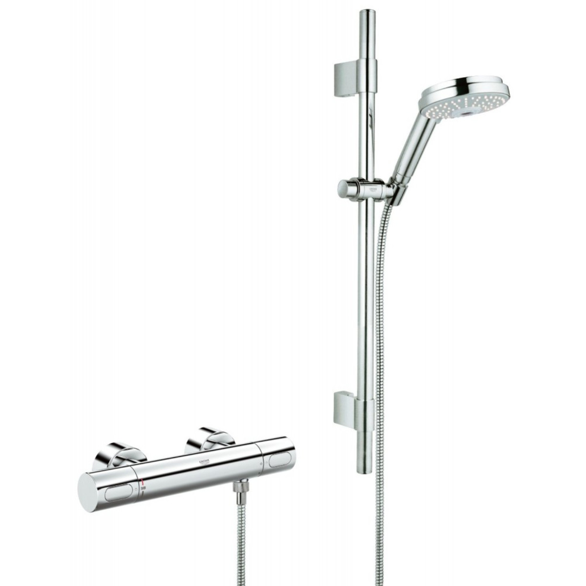 Grohe grohtherm 3000 cosmopolitan douchekraan for Grohtherm cosmopolitan 1000