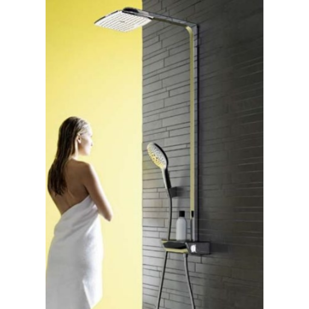 hansgrohe raindance select air 360 showerpipe wit chroom. Black Bedroom Furniture Sets. Home Design Ideas