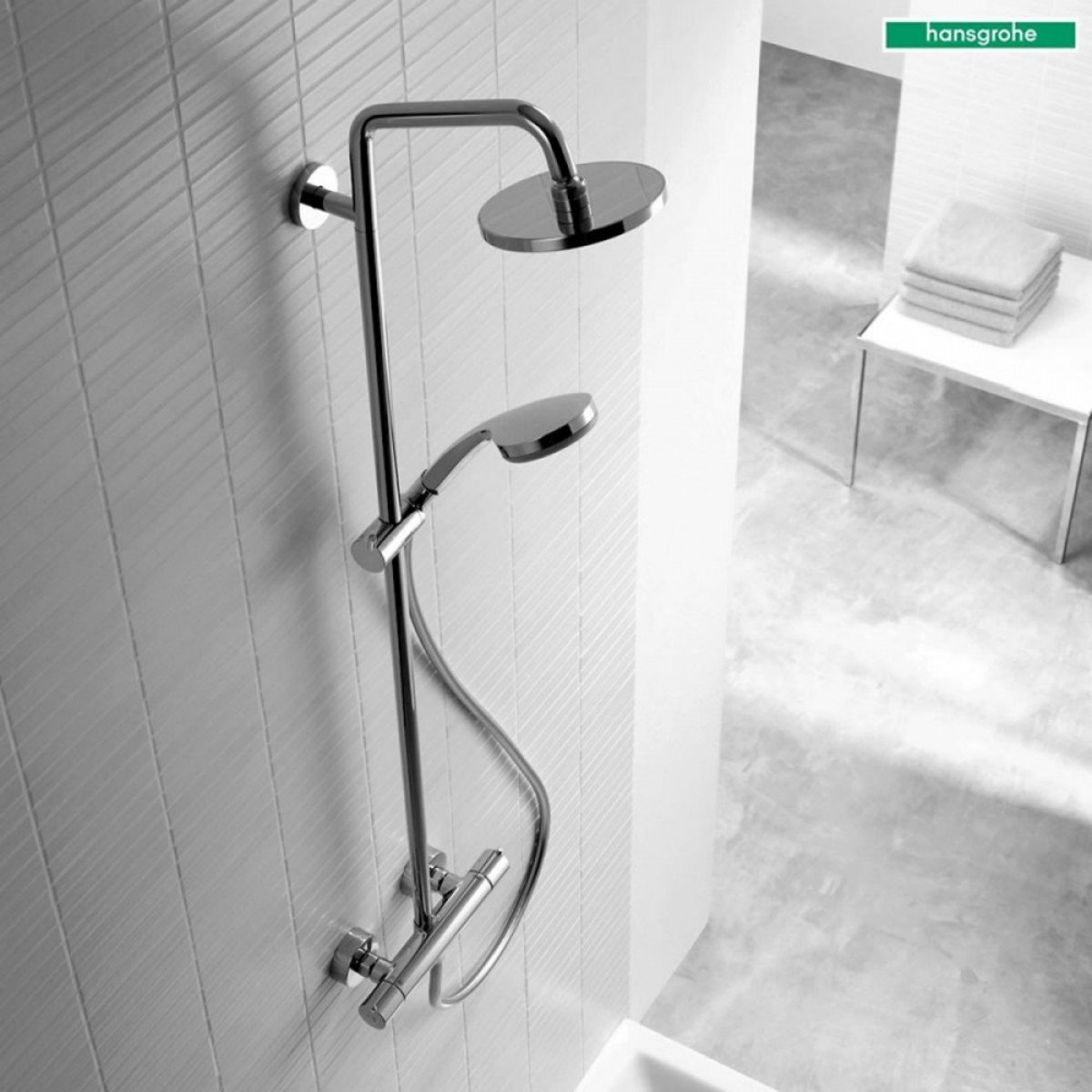 hansgrohe croma 160 showerpipe chroom 27135000. Black Bedroom Furniture Sets. Home Design Ideas