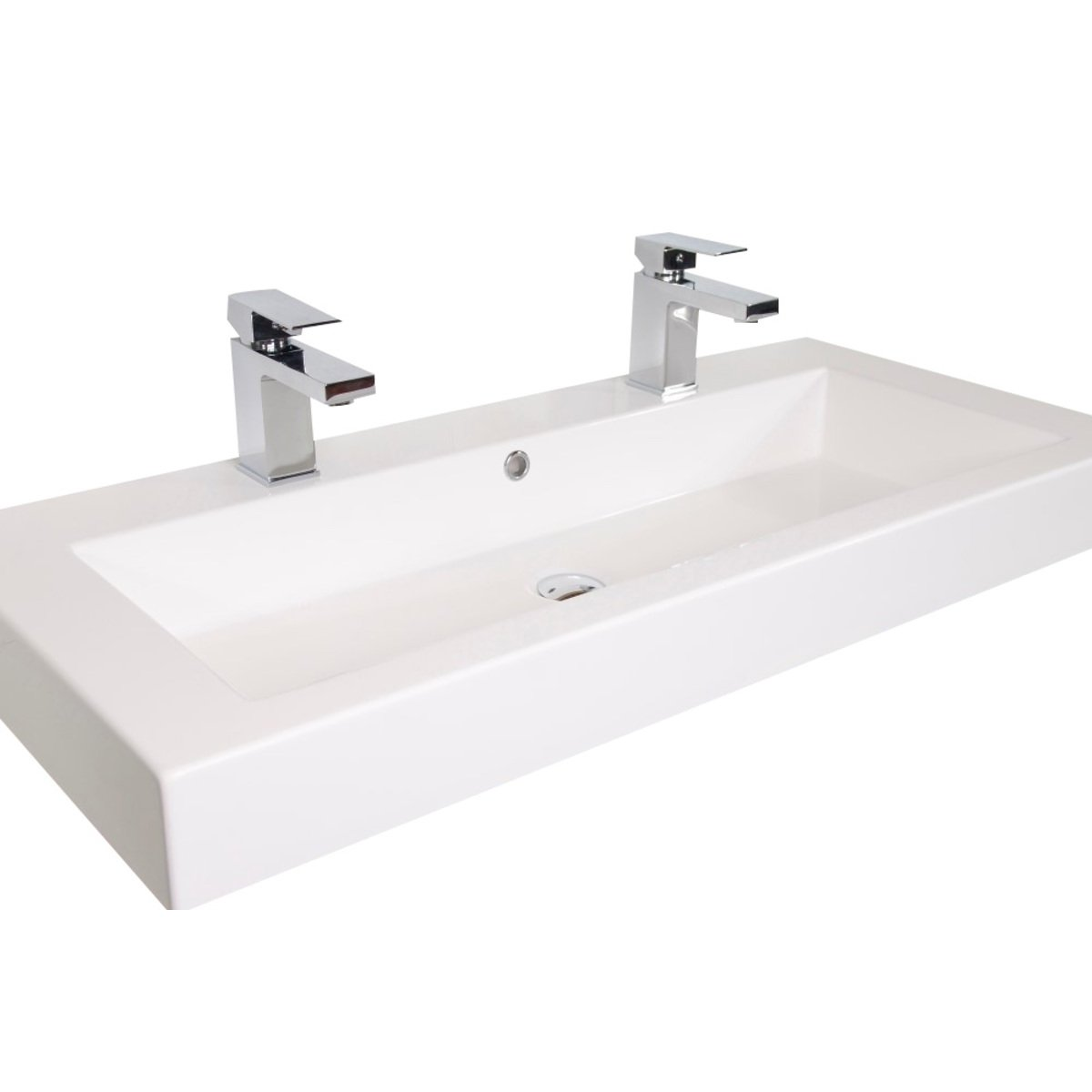 Saniclass natural wood badmeubelset 100cm hangend model for Model lavabo salle bain