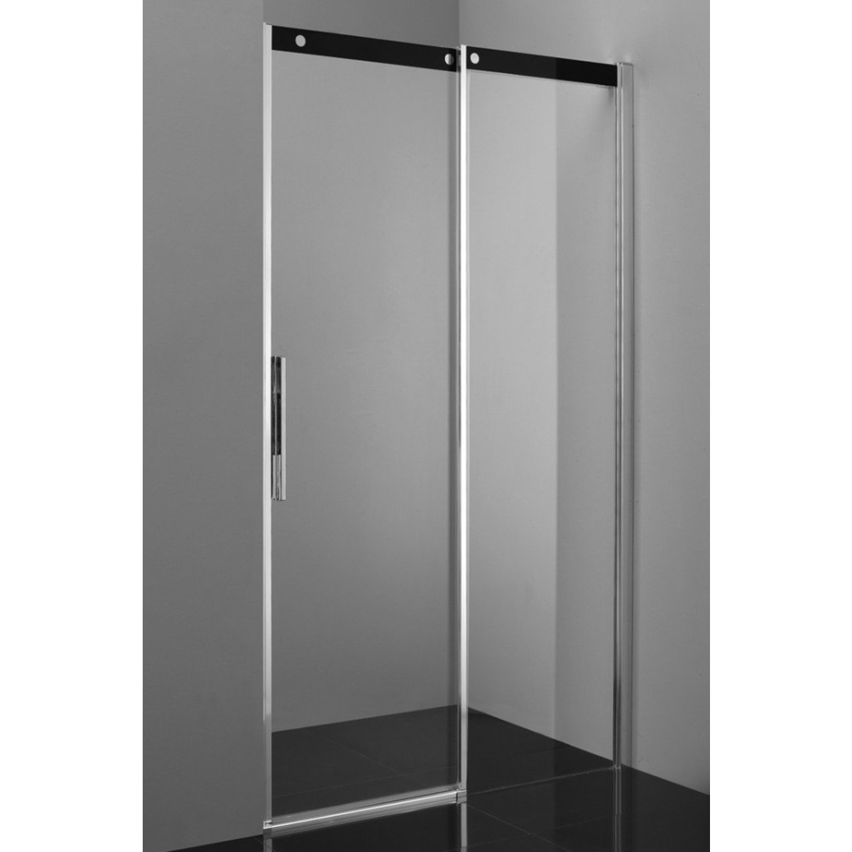 saniclass slide porte de douche 140cm droite avec traitement anticalcaire vitre de s curit 8mm. Black Bedroom Furniture Sets. Home Design Ideas