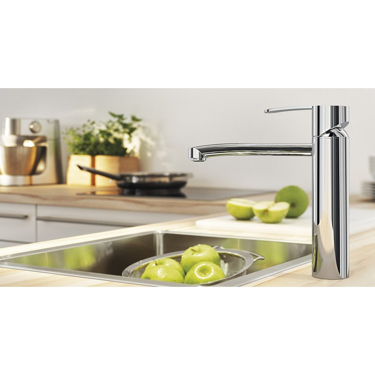 grohe wave robinet de cuisine chrome 31316000. Black Bedroom Furniture Sets. Home Design Ideas
