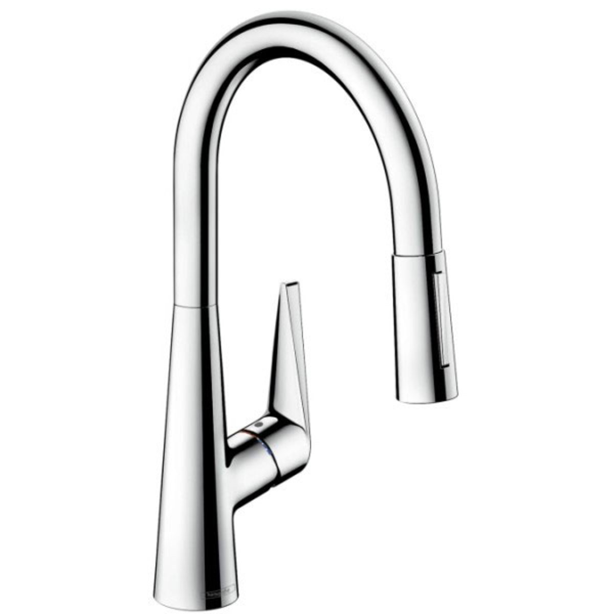 hansgrohe talis s robinet de cuisine 200 avec douchette extractible look inox 72813800. Black Bedroom Furniture Sets. Home Design Ideas