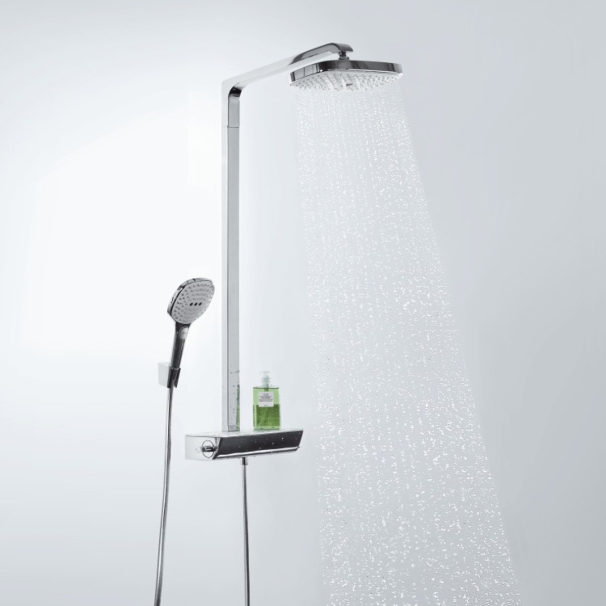 hansgrohe raindance select e 300 2jet showerpipe ecosmart. Black Bedroom Furniture Sets. Home Design Ideas