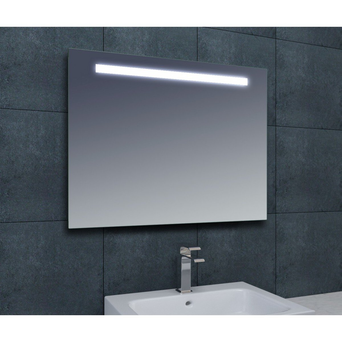 wiesbaden line miroir avec clairage 140x80cm avec. Black Bedroom Furniture Sets. Home Design Ideas