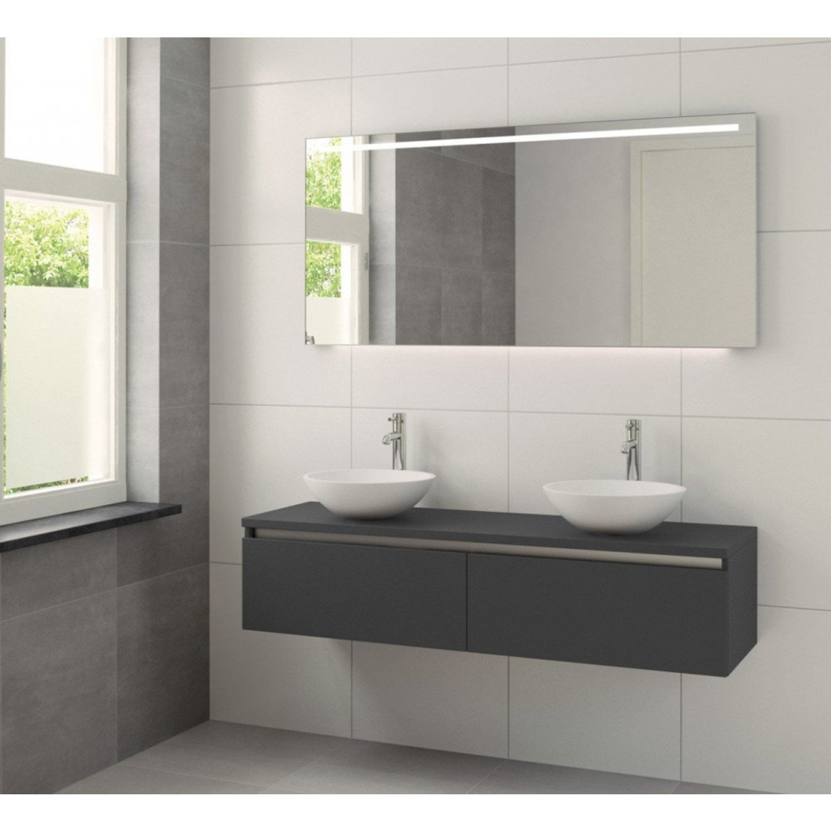 1000 id es sur le th me meuble lavabo double sur pinterest for Meuble double vasque 150