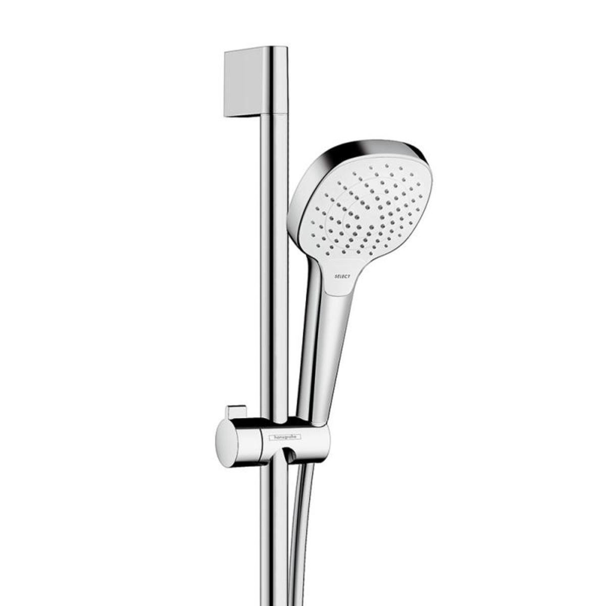 hansgrohe combi croma select e vario 0 90m ecostat comfort blanc chrom 27082400. Black Bedroom Furniture Sets. Home Design Ideas