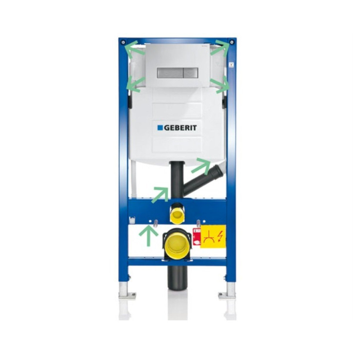 Geberit duofresh wc element met geurafzuiging en filtering for Geberit products