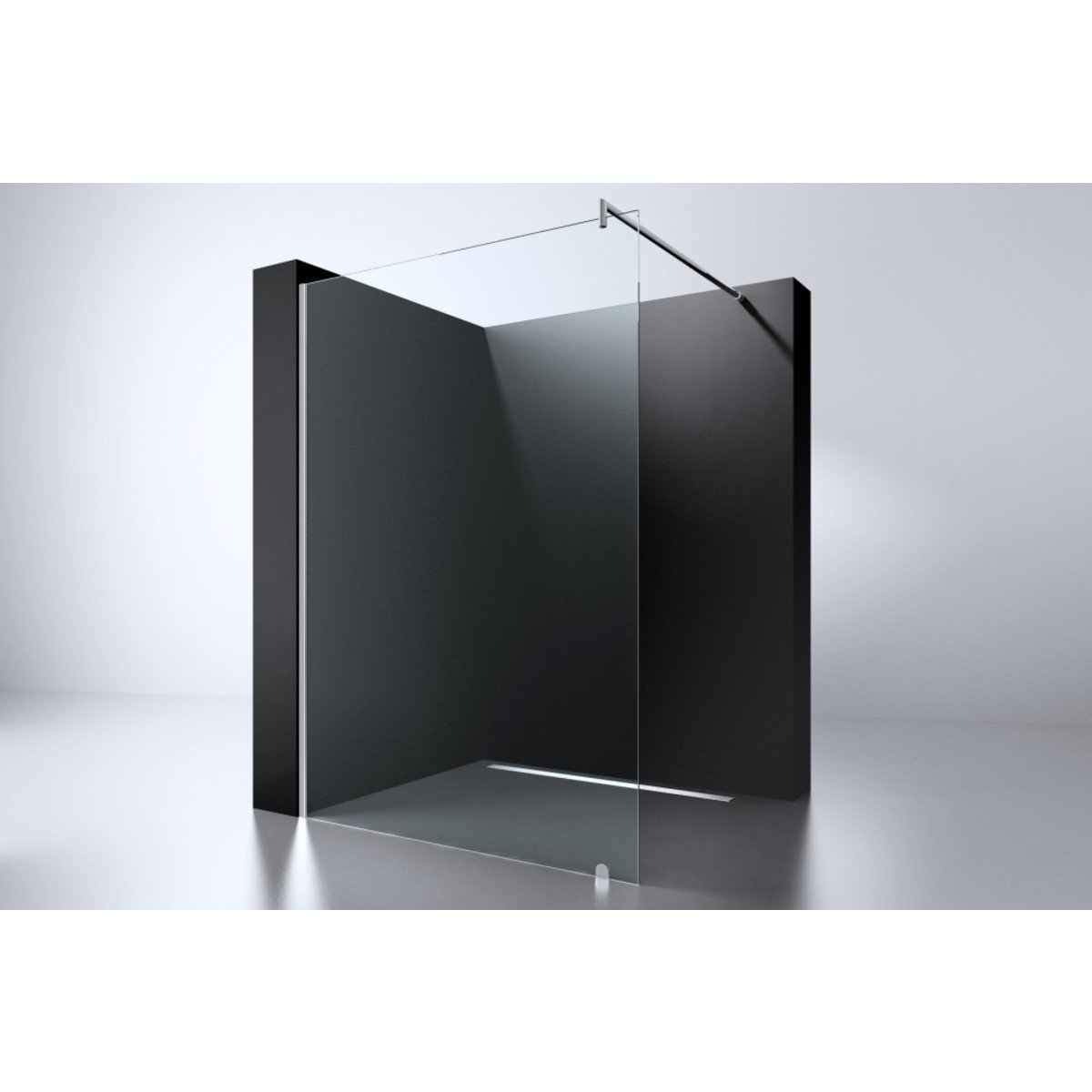 best design erico douche l 39 italienne 69x200cm verre nano 8mm avec barre de renfort chrome. Black Bedroom Furniture Sets. Home Design Ideas