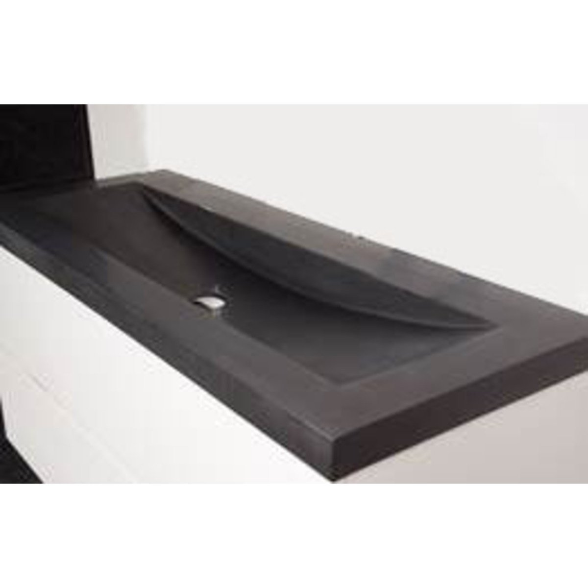 saniclass corestone13 lavabo pour meuble peu profond 60cm sans trous pour robinetterie basalte. Black Bedroom Furniture Sets. Home Design Ideas