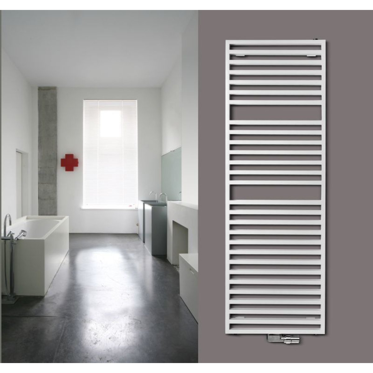 Vasco Arche Bad AB designradiator 870x700mm 672W aansluiting 1188 ...