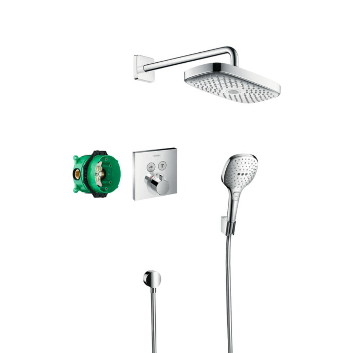 hansgrohe raindance select s showerselect s showerset compleet chroom 27296000. Black Bedroom Furniture Sets. Home Design Ideas