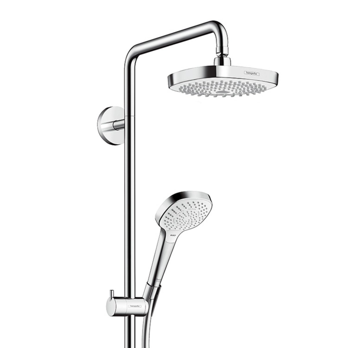 hansgrohe croma select e 180 2jet showerpipe met ecostat. Black Bedroom Furniture Sets. Home Design Ideas