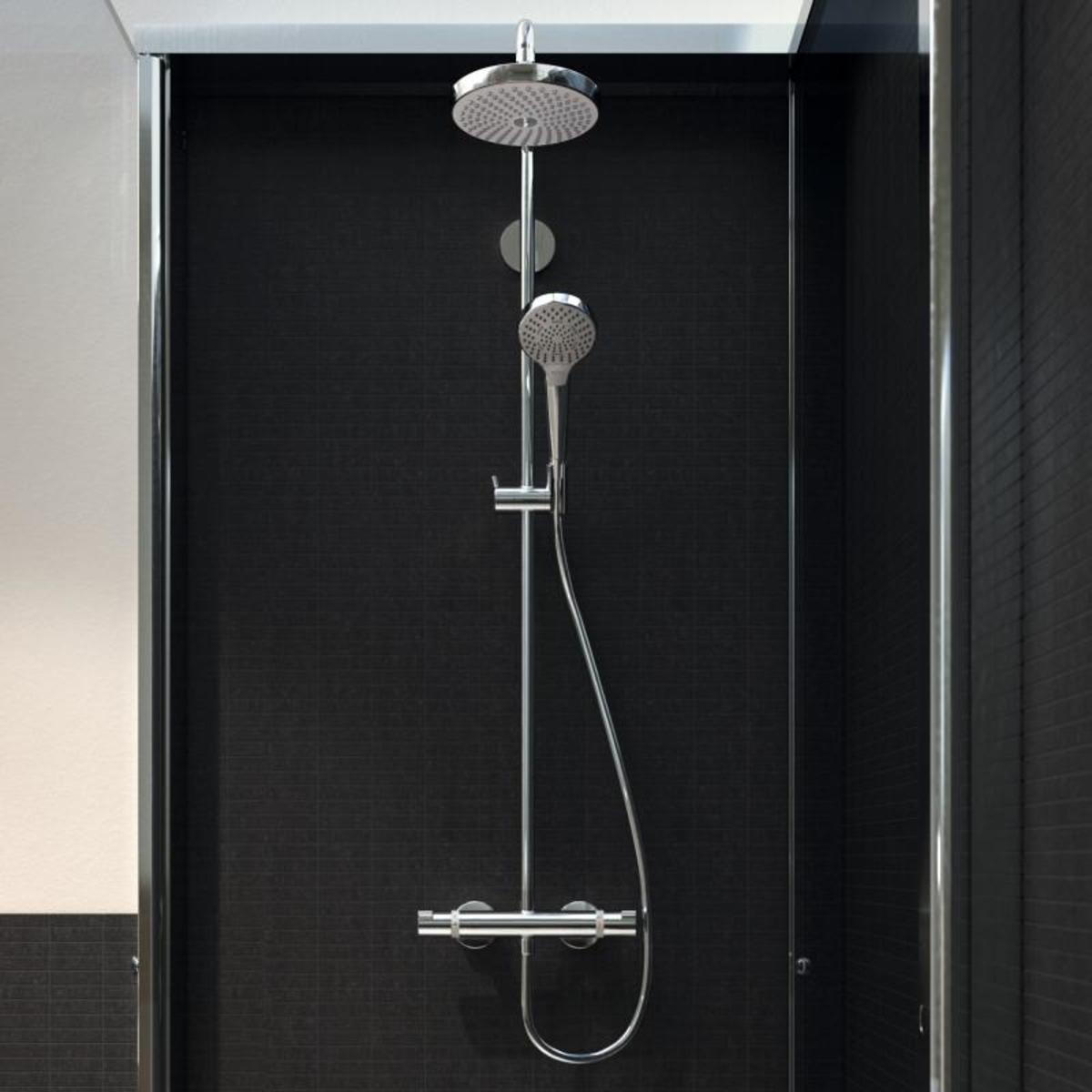 hansgrohe showerpipe croma select s 180 2jet ecosmart. Black Bedroom Furniture Sets. Home Design Ideas