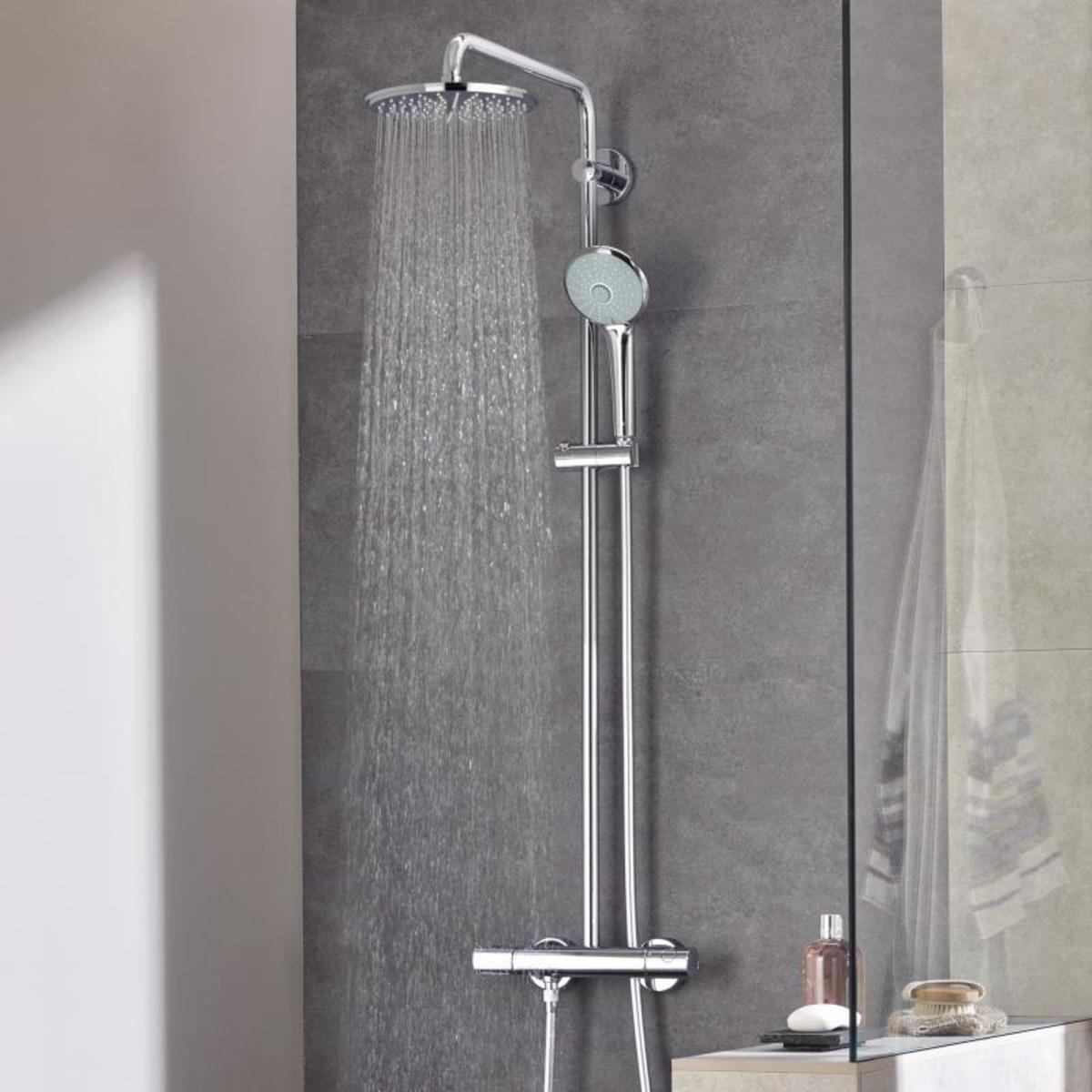 Grohe euphoria douchesysteem met douchekraan for Grohe cosmopolitan 1000 thermostat