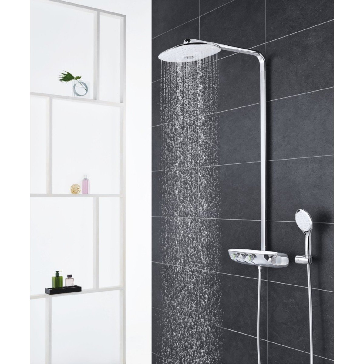 grohe rainshower smartcontrol colonne de douche avec robinet de douche thermostatique 360 duo. Black Bedroom Furniture Sets. Home Design Ideas