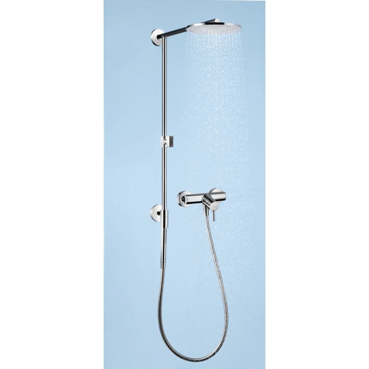 Hansgrohe raindance connect colonne de douche air 24cm avance 46cm chrome 27164000 - Colonne de douche hansgrohe raindance ...