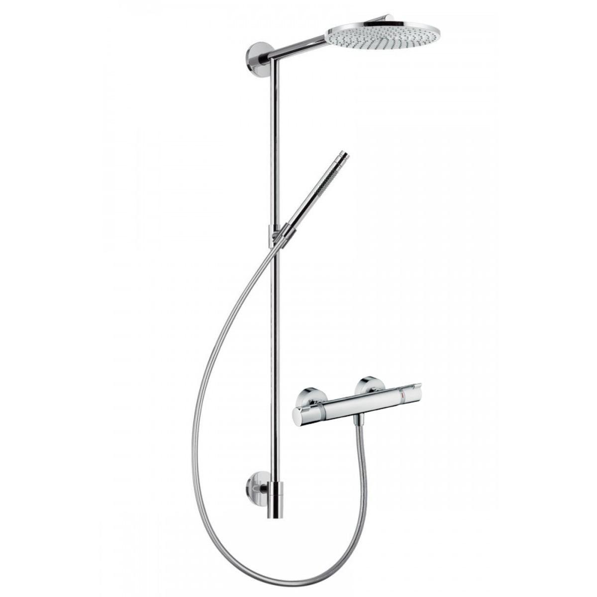 hansgrohe raindance connect douchesysteem air 240mm voorsprong 460mm met douchekraan chroom. Black Bedroom Furniture Sets. Home Design Ideas