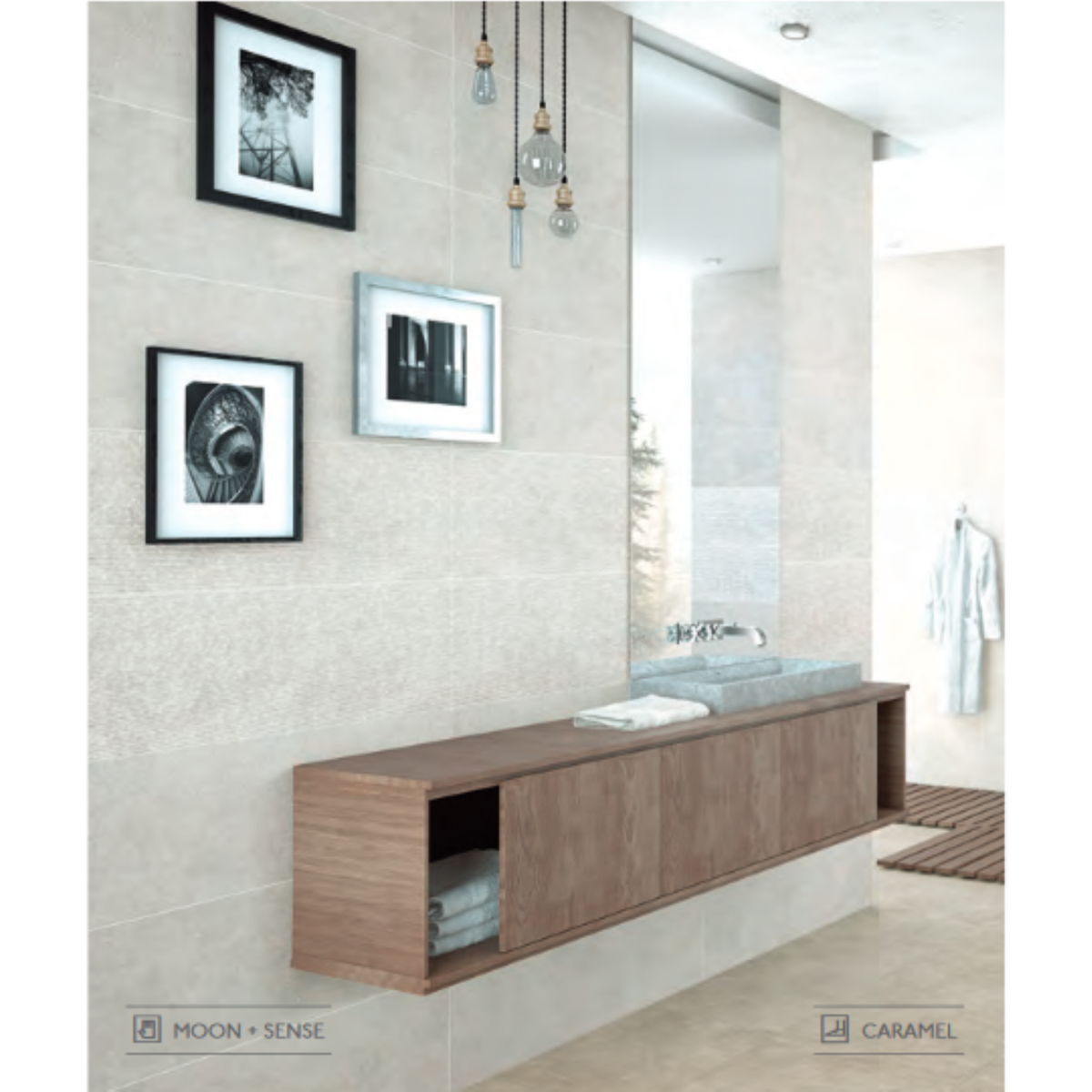 Colorker Neolith Carrelage Mural 316x100cm Caramel SW60119