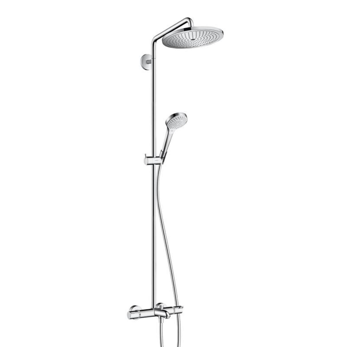 hansgrohe croma select s 280 showerpipe met badthermostaat chroom 26792000. Black Bedroom Furniture Sets. Home Design Ideas