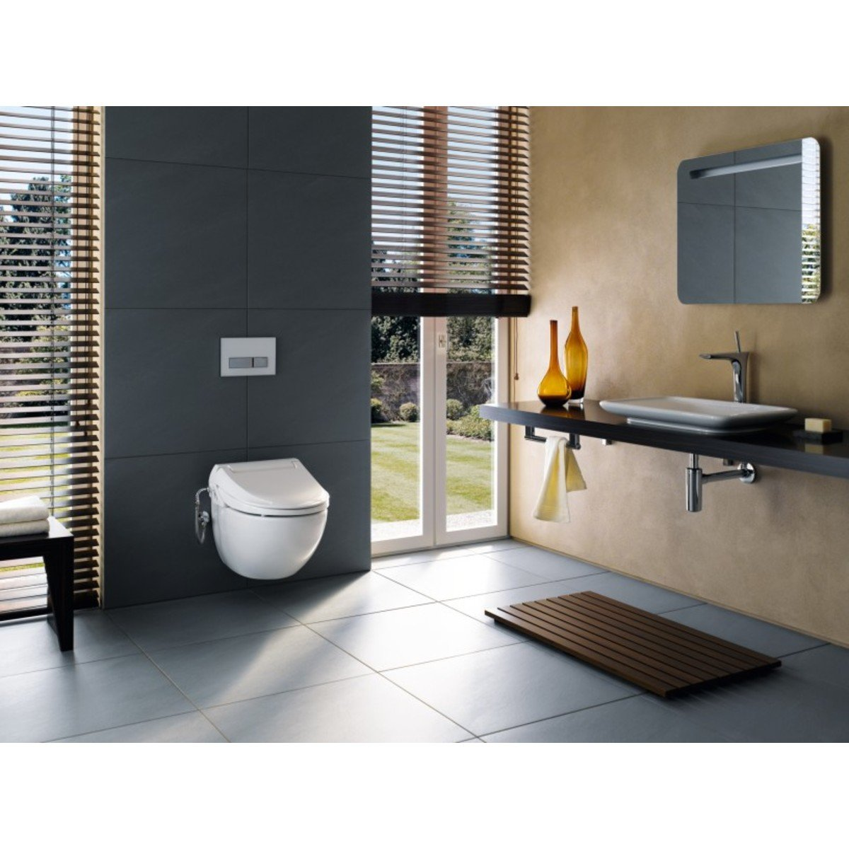 geberit aquaclean 4000 douche wc zitting met wandcloset wit 146135111. Black Bedroom Furniture Sets. Home Design Ideas