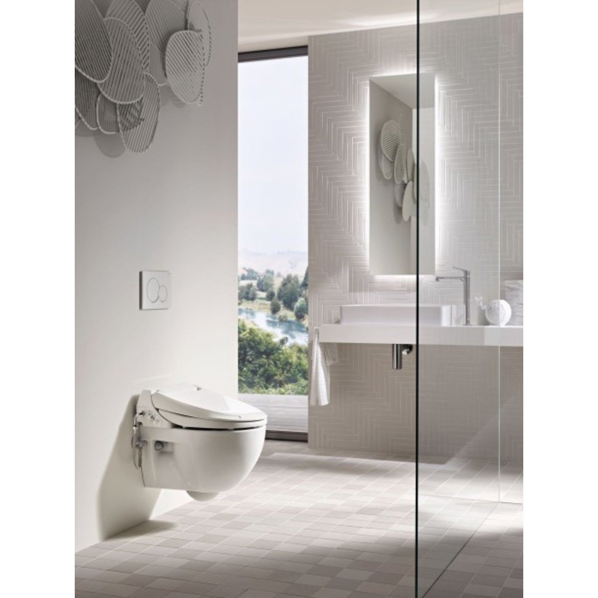 geberit aquaclean 4000 abattant wc japonais avec cuvette murale blanc 146135111. Black Bedroom Furniture Sets. Home Design Ideas