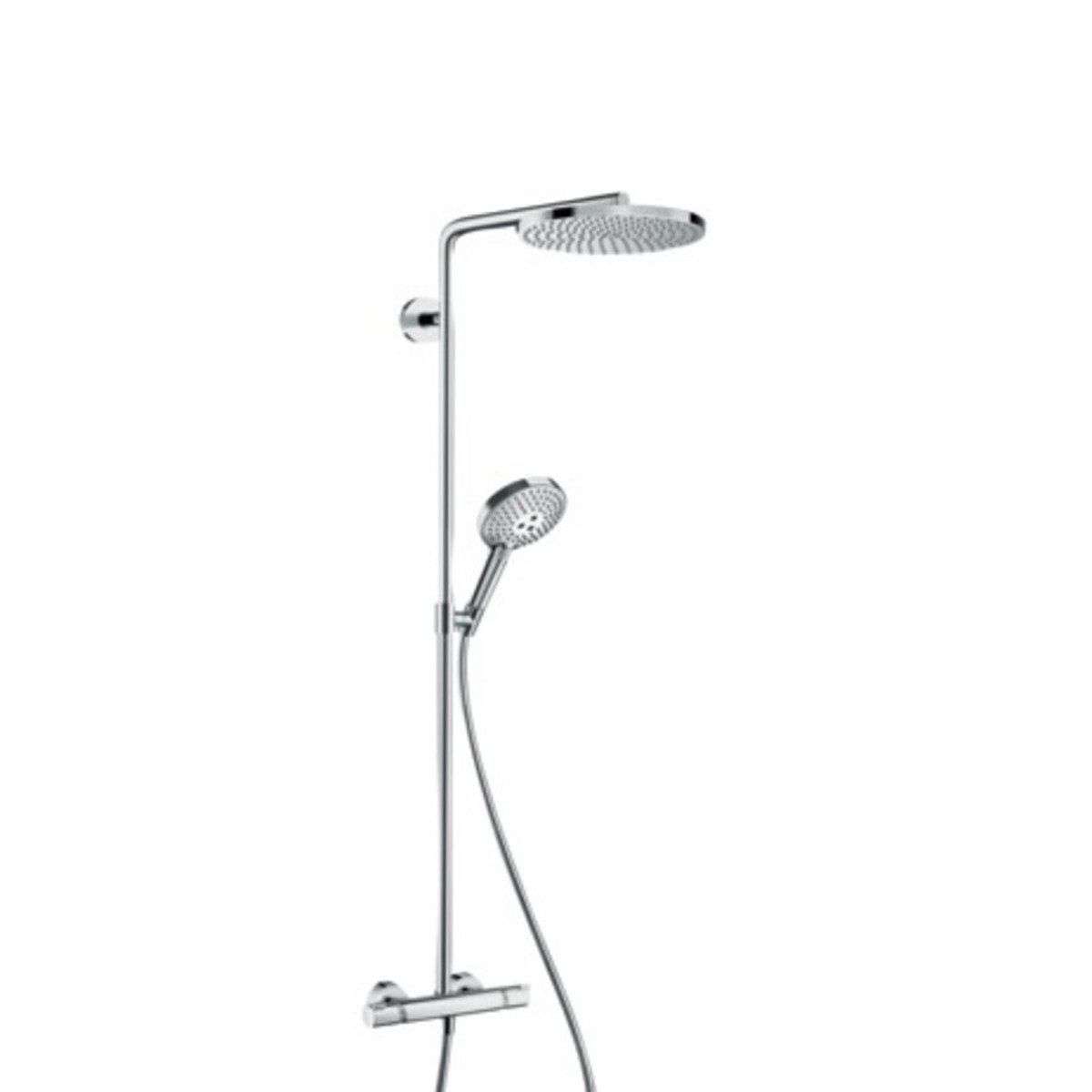 hansgrohe raindance select s 240 powderrain 2jet showerpipe met ecostat comfort douchekraan. Black Bedroom Furniture Sets. Home Design Ideas