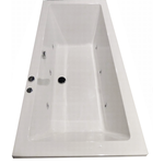 royal plaza rade2 systeembad 180x80 cm. injectie water pw6 wit