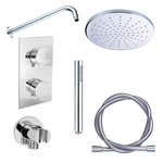 adema shower set de douche encastrable avec douche de tefte et support mural complet chrome