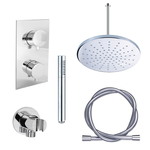 adema shower set de douche a encsatrer 30cm douche de tete avec support plafond complet chrome
