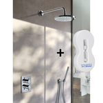 hotbath ibs 2a set de douche mitigeur thermostatique a encastrer laddy v avec inverseur chrome modele stick et bras mural 20cm
