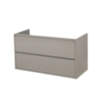 saniclass new future onderkast 100x55x45.5cm met 2 lades taupe outlet