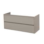 saniclass new future onderkast 120x55x45.5cm met 2 lades en 2 sifonuitsparringen taupe