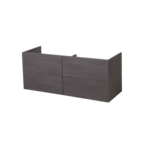 saniclass exclusive line meuble sous lavabo 120cm 4 tiroirs black diamond