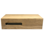 saniclass natural wood fonteinonderkast 40x20x10cm met uitsparing links doorlopend lamel black oak