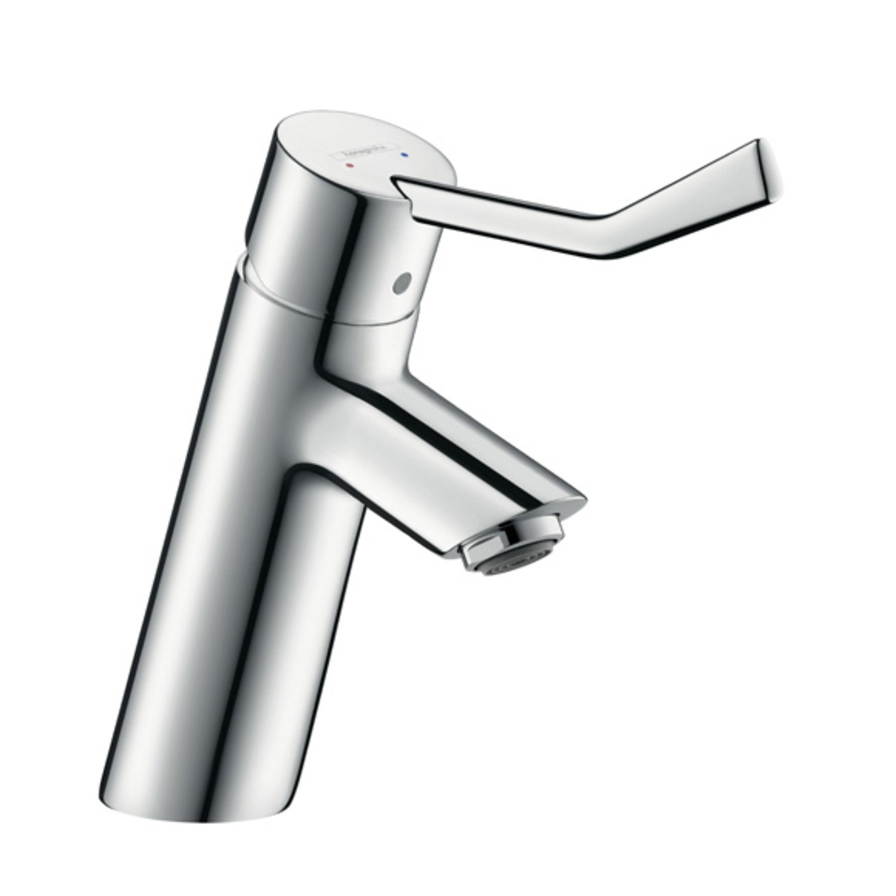 Hansgrohe Talis Care wastafelkraan 80 met waste met verlengde greep chroom