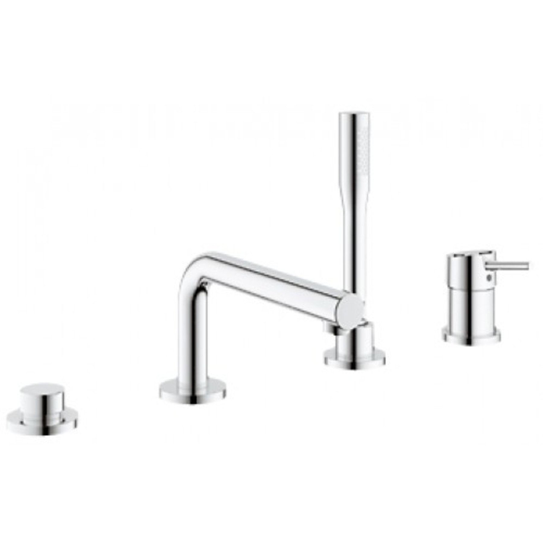 Grohe Concetto 4 gats badrandkraan chroom