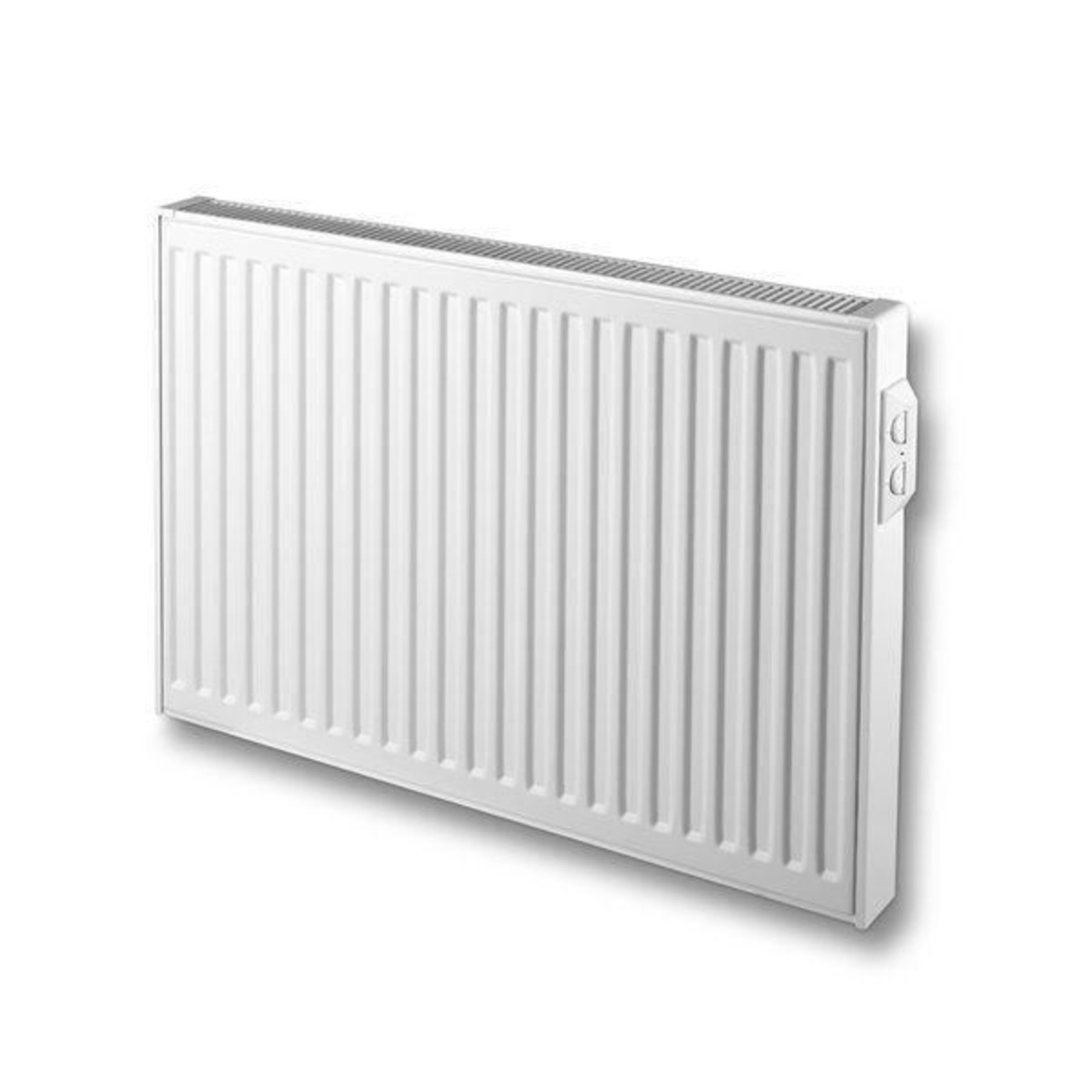 Vasco E panel geribt radiator elektrisch 1000x600mm 1250 watt wit