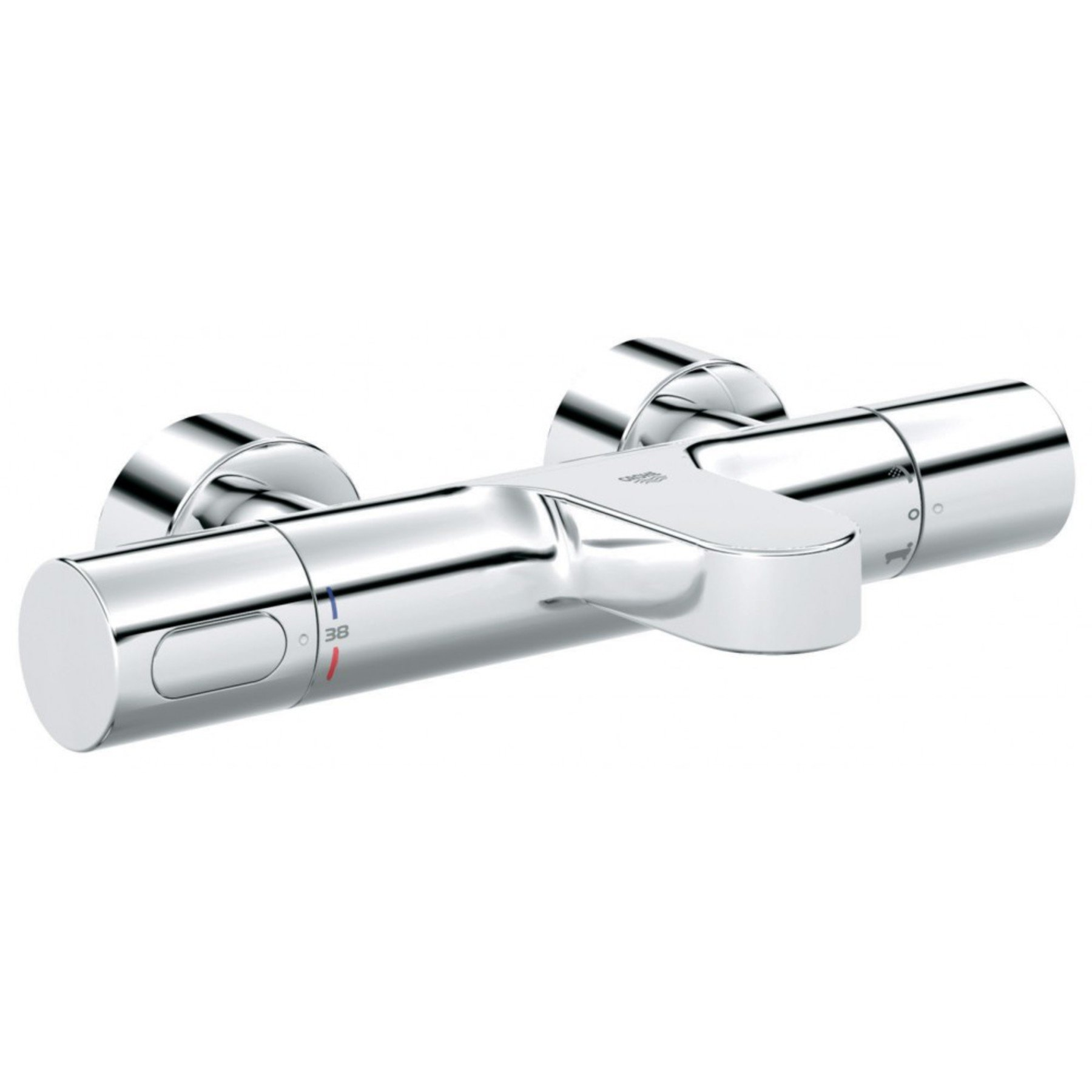 Grohe Grohtherm 3000 Cosmopolitan badthermostaat met omstel chroom