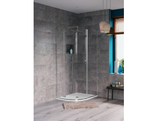 Crosswater Svelte douchecabine kwartrond 100x80x200 chroom SW258665