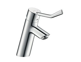 Hansgrohe Talis Care wastafelkraan 80 met waste met verlengde greep chroom 0450894