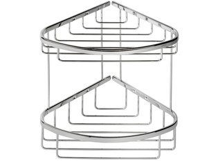 Geesa Basket Corbeille de douche double et grande chrome 0650257