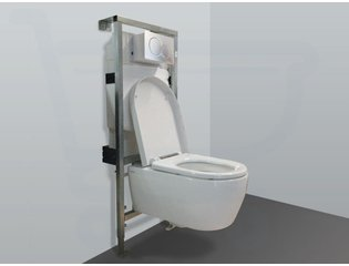 Throne Bathrooms Salina inbouwset met keramische wandcloset en softclose zitting afdekplaat mat chroom SW2100
