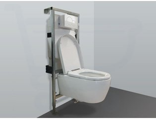 Throne Bathrooms Salina inbouwset met wandcloset en softclose zitting en afdekplaat wit SW2099