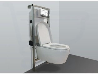 Throne Bathrooms Salina inbouwset met wandcloset en softclose zitting en afdekplaat chroom SW3199