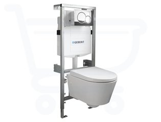 Throne Bathrooms Salina Compact inbouwset met softclose zitting afdekplaat chroom SW3204