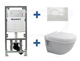 Duravit Philippe Starck 3 inbouwreservoir set soft close zitting afdekplaat wit SW2999