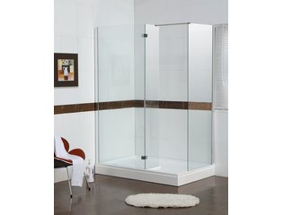 Saniscape Walk in Receveur de douche rectangulaire droit 140x90x15cm blanc Fin de Série OUT2431